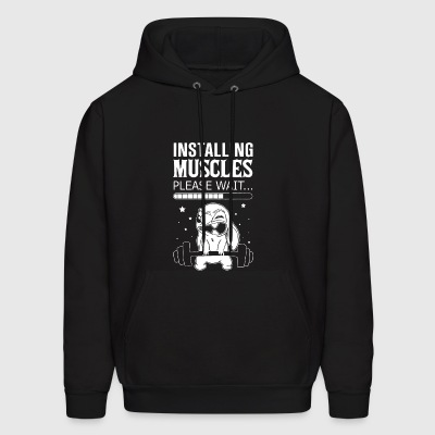 Installing muscles please wait - Men's Hoodie