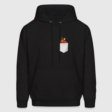 Just Go Everywhere With My Bunny In Pocket - Men's Hoodie