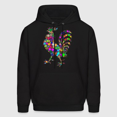 colorful rooster - Men's Hoodie