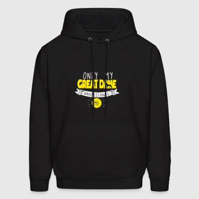 Great Dane T Shirt Only My Great Dane Understands Me Yellow - Men's Hoodie