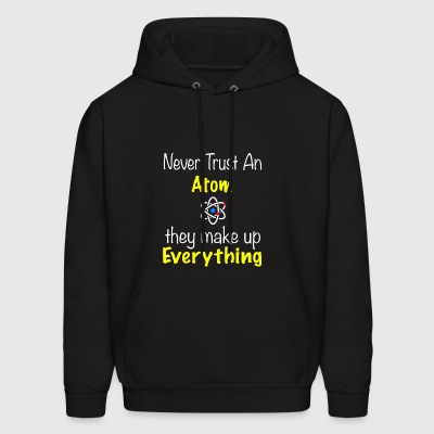 BACK DESIGN Atom makes up everything - Men's Hoodie