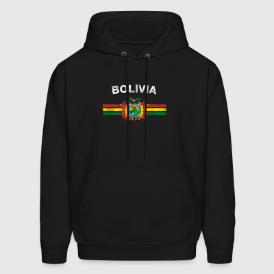 val2 Flag Shirt - val2 Emblem & Bolivia Flag Shirt - Men's Hoodie