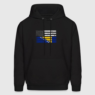 Bosnian American Flag - USA Bosnia Shirt - Men's Hoodie