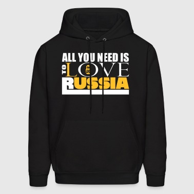 All you need is love Russia schwarz - Men's Hoodie