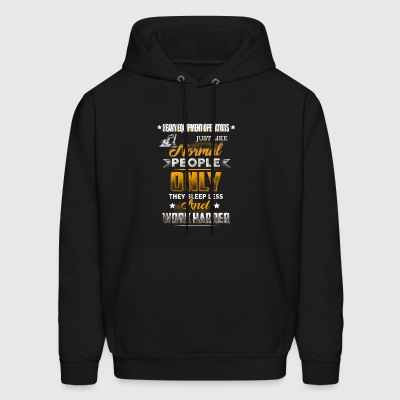 Work Harder Heavy Equipment Operator T-Shirts - Men's Hoodie