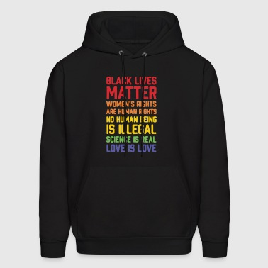 Black lives matter women's rights are human right - Men's Hoodie