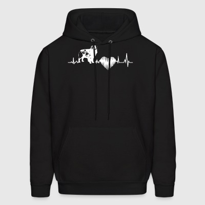 Australian Shepherd Heartbeat Shirt - Men's Hoodie