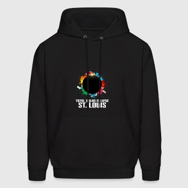 Colorful Total Solar Eclipse St. Louis - Men's Hoodie
