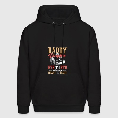 Daddy and daughter not always eye to eye but heart - Men's Hoodie