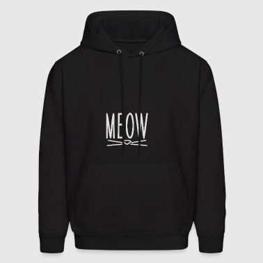 Meow Cute Cat Face - Men's Hoodie