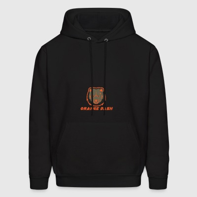 Logo Orange Dash - Men's Hoodie