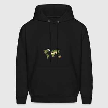 Polygon Map of the World - Men's Hoodie