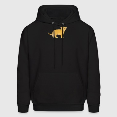 Adorable Lion Cub Triangular Design - Men's Hoodie