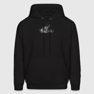 steam train outline - Men's Hoodie