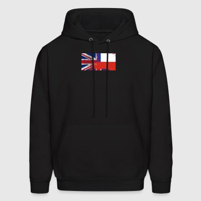 British Chilean Half Chile Half UK Flag - Men's Hoodie