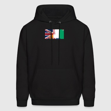 British Ivorian Half Ivory Coast Half UK Flag - Men's Hoodie