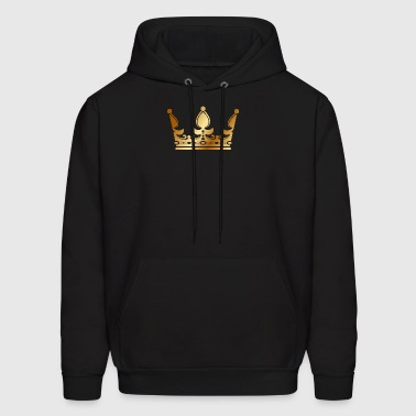 golden crown the king of rap drawing graphic arts - Men's Hoodie