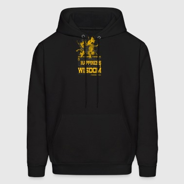 Happiness and Wisdom - Men's Hoodie