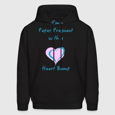 I'm Paper Pregnant with a Heart Bump - Men's Hoodie