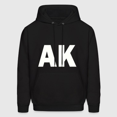 PLACE AND TIME AK WHITE - Men's Hoodie