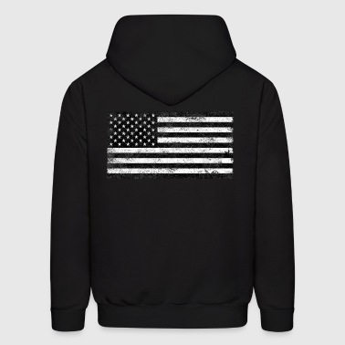 US Flag in Black and White - Men's Hoodie