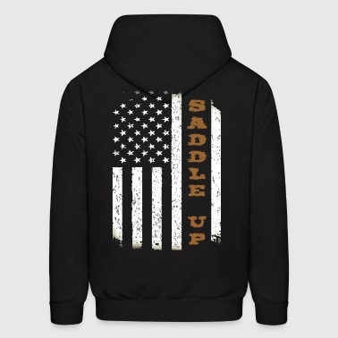 Saddle Up Flag. - Men's Hoodie