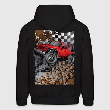 Jeep Wrangler Extreme Red - Men's Hoodie