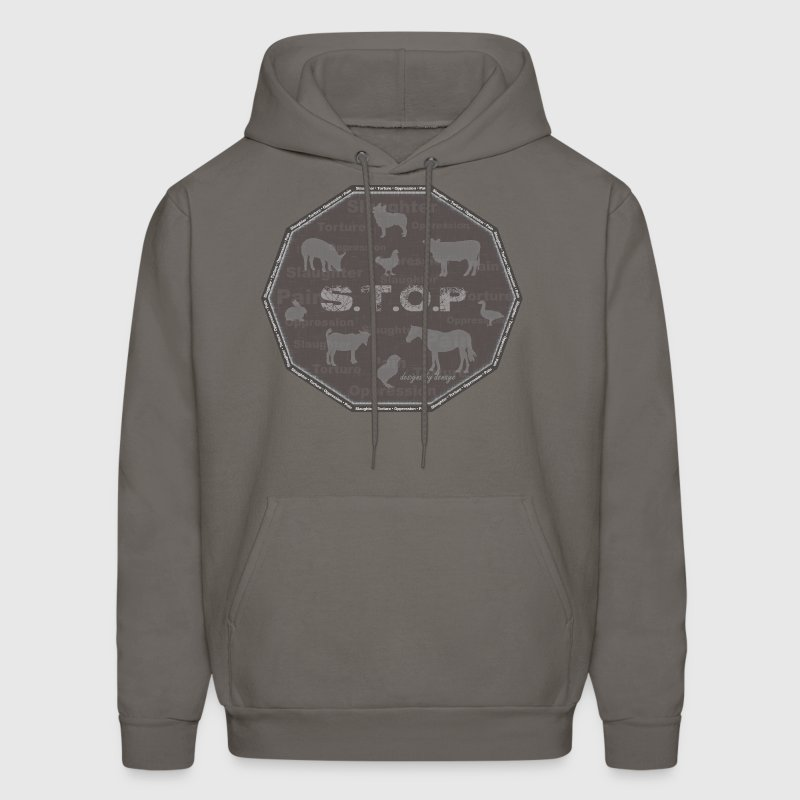 STOP Animal Slaughter.Torture.Oppression.Pain - Men's Hoodie
