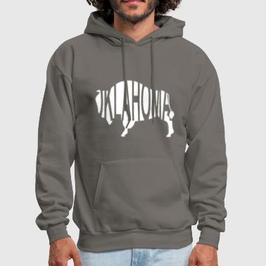Bison Oklahoma Bison -White - Men's Hoodie