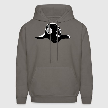 Gorilla with headphones - Men's Hoodie