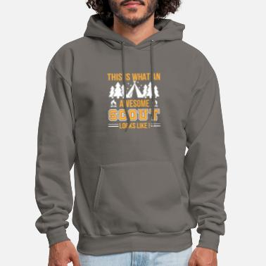 Boy This Is What An Awesome Scout Looks Like - Men's Hoodie