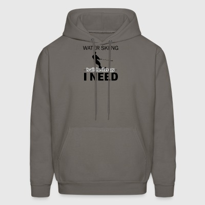 Water Skiing is my therapy - Men's Hoodie