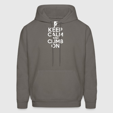 Keep Calm And Climb On - Men's Hoodie
