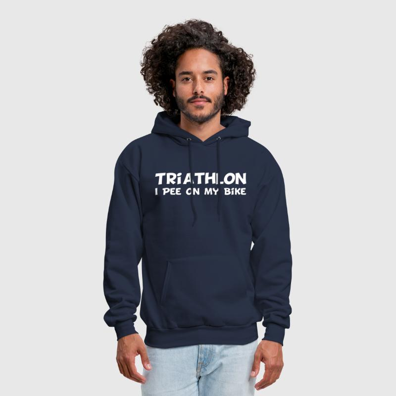 Triathlon I Pee On My Bike - Men's Hoodie