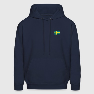 Sweden vector flag - Men's Hoodie