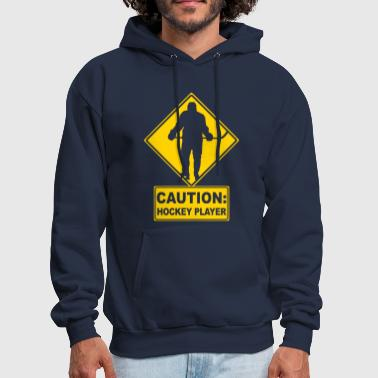 CAUTION: Hockey Player - Men's Hoodie