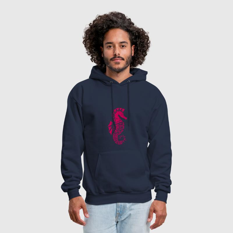 a stylized seahorse - Men's Hoodie