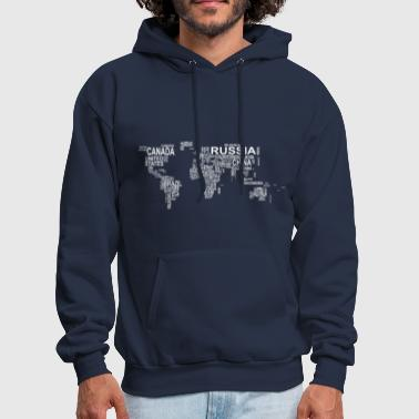 Shop world map hoodies sweatshirts online spreadshirt world map men39s hoodie gumiabroncs Image collections