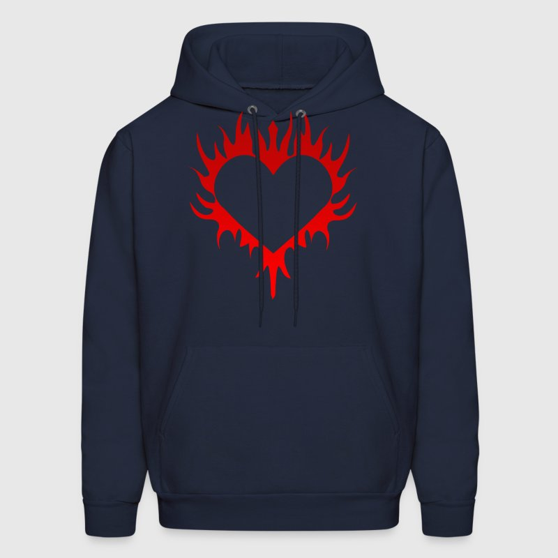 Flaming Heart - Men's Hoodie