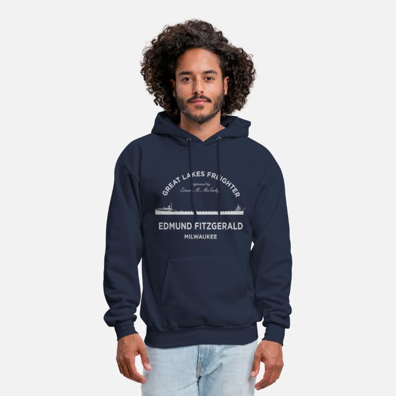 Chicago Hoodies & Sweatshirts - Edmund Fitzgerald Crew - Men's Hoodie navy