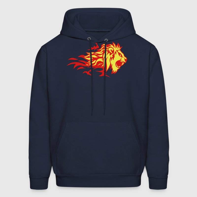 fire flame lion animal 3020 - Men's Hoodie