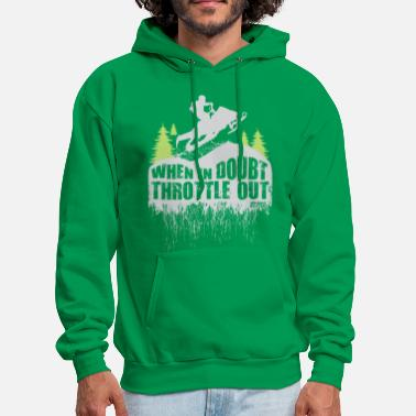 Snowmobile Throttle Out - Men's Hoodie
