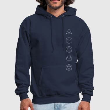 Platonic Solids Platonic Solids, Sacred Geometry, Evolution - Men's Hoodie