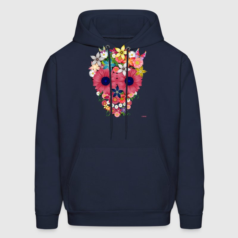 skull flowers by wam - Men's Hoodie