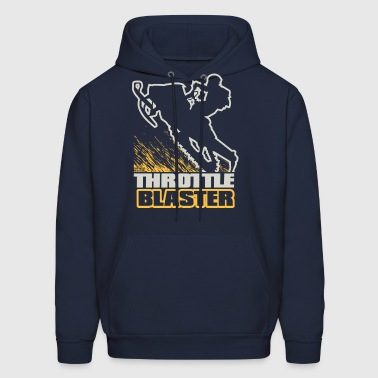 Snowmobile Throttle Blast - Men's Hoodie
