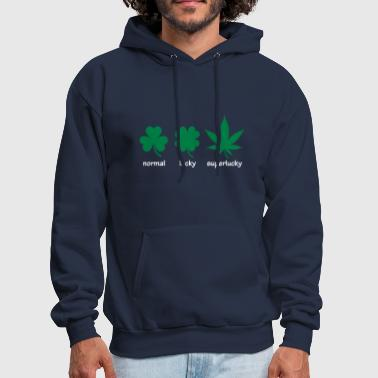 Weed Superlucky Hemp Leaf - Men's Hoodie