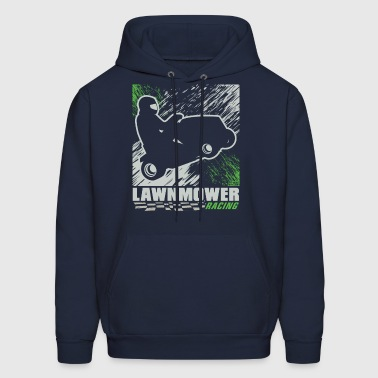 Lawnmower Racing Abstract - Men's Hoodie