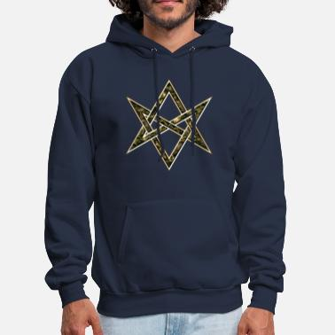 Occult Unicursal Hexagram, Magic, Mystic, Occult, Symbol - Men's Hoodie