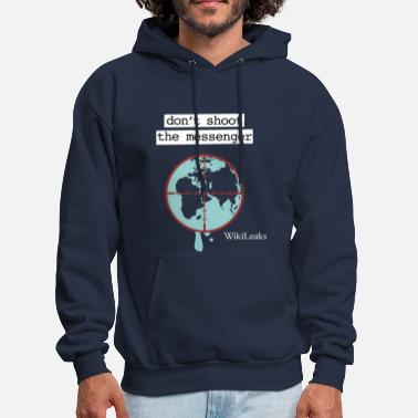 Wikileaks Wikileaks Don't Shoot The Messenger  Hoodies - Men's Hoodie