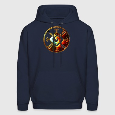 Hunab Ku - Mayan Symbol - Heart of Galaxy / - Men's Hoodie